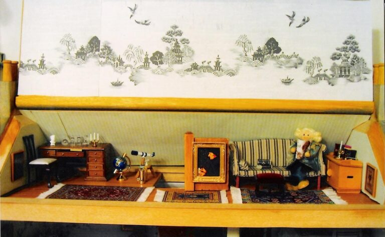 Detail of the dollhouse.