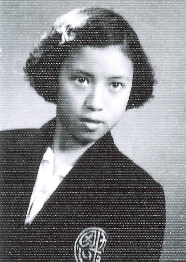 Xi Xi at Heep Yunn Secondary School, 1950.