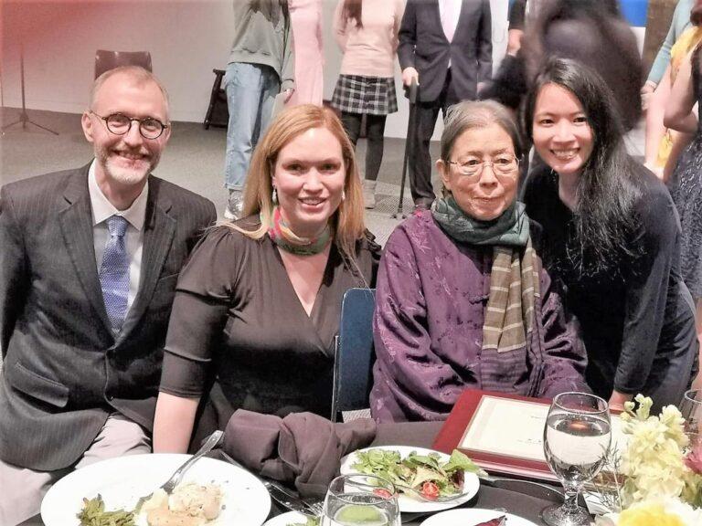 Xi Xi with Jonathan Stalling, Jennifer Feeley, and Tammy Ho Lai-Ming.