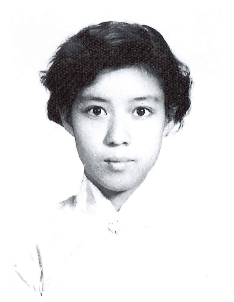 Xixi just entered the Normal University (late 1950s)