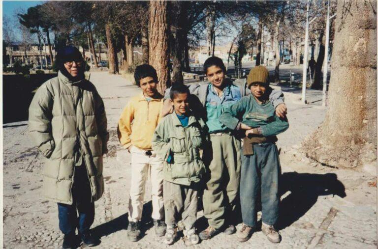 Xi Xi with Iranian kids.